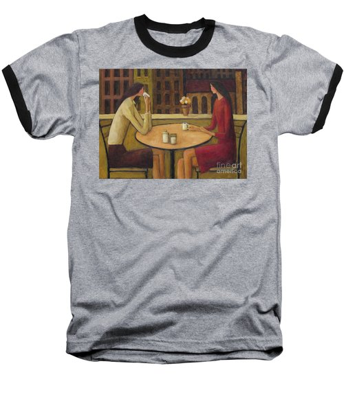 Baseball T-Shirt featuring the painting Coffee Break by Glenn Quist