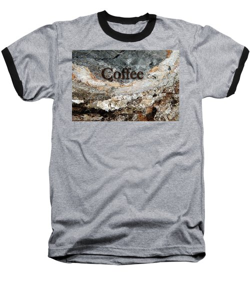 Coffee Edit 2 Brown Letters Baseball T-Shirt by Margie Chapman