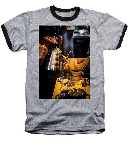 Coffee First Baseball T-Shirt
