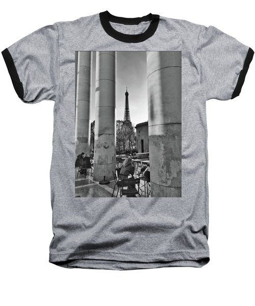 Baseball T-Shirt featuring the photograph Coffee In Paris by Frank DiMarco