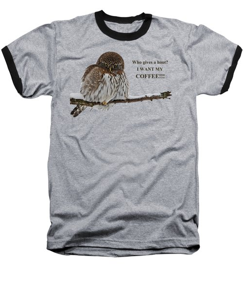 Coffee Owl Baseball T-Shirt