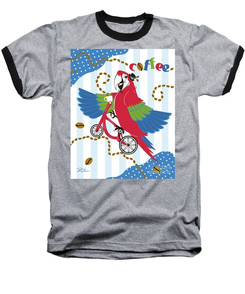 Coffee Parrot Baseball T-Shirt