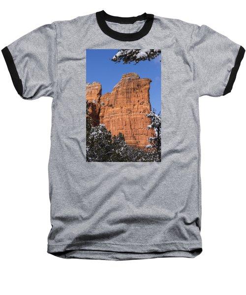 Coffee Pot Rock Baseball T-Shirt by Laura Pratt