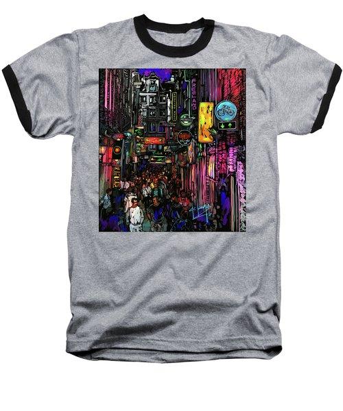 Coffee Shop, Amsterdam Baseball T-Shirt by DC Langer