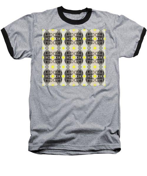 Coffee Time Patttern Baseball T-Shirt