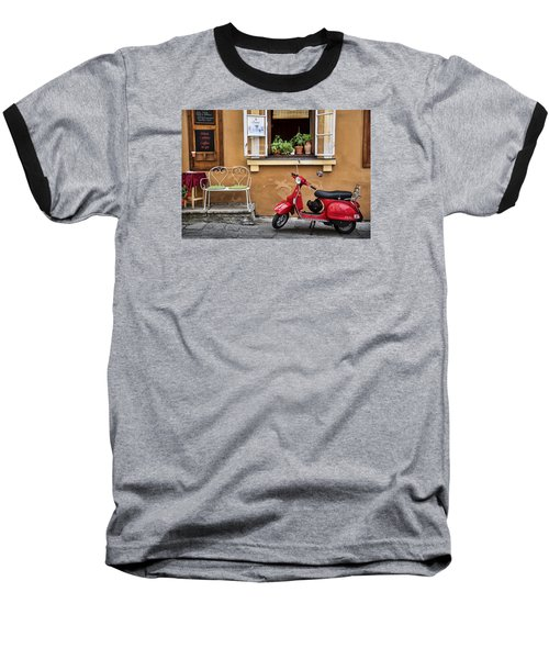 Coffee To Go Baseball T-Shirt by James David Phenicie