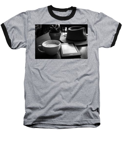 Baseball T-Shirt featuring the photograph Coffeehouse Lifestyle by Monte Stevens