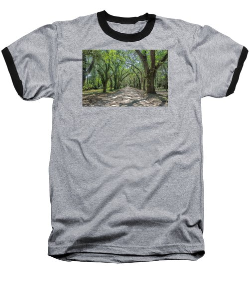 Baseball T-Shirt featuring the photograph Coffin Point Shadows by Patricia Schaefer