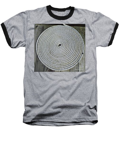 Coiled By D Hackett Baseball T-Shirt by D Hackett