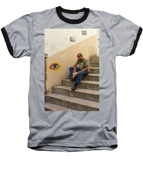 Baseball T-Shirt featuring the photograph Coimbra  Local  by Patricia Schaefer