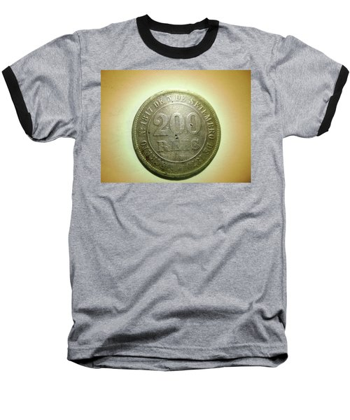 Baseball T-Shirt featuring the photograph Coin Series - Brazil by Beto Machado