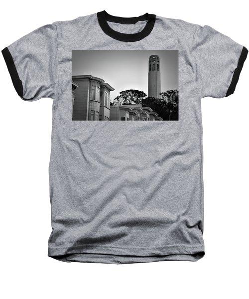 Coit Tower Baseball T-Shirt