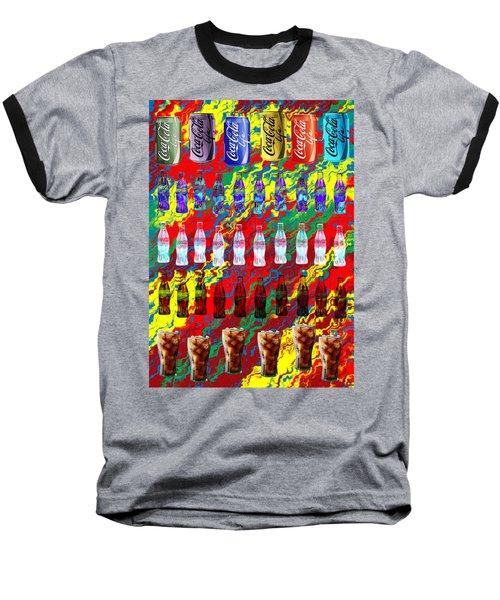 Baseball T-Shirt featuring the digital art Coke Life, Happy Life by Saad Hasnain