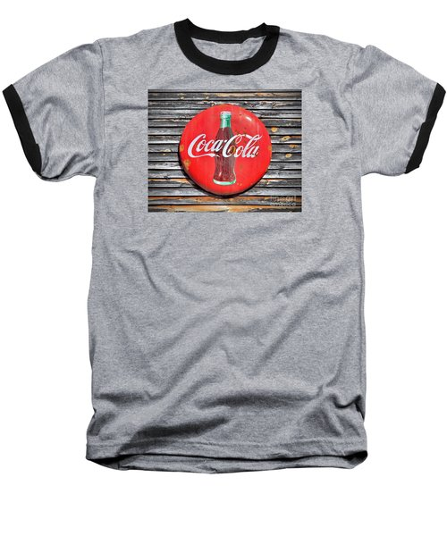 Baseball T-Shirt featuring the photograph Coke by Marion Johnson