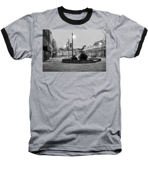 Cold And Foggy Morning Baseball T-Shirt by Monte Stevens