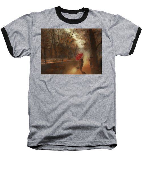 Cold Autumn Morning Painting Baseball T-Shirt