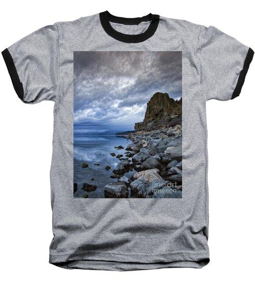 Cold Blue Cave Rock Baseball T-Shirt
