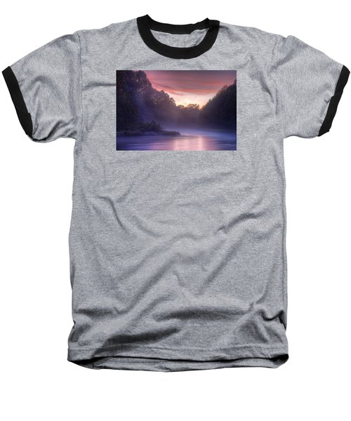 Cold Blue Mist Baseball T-Shirt by Robert Charity