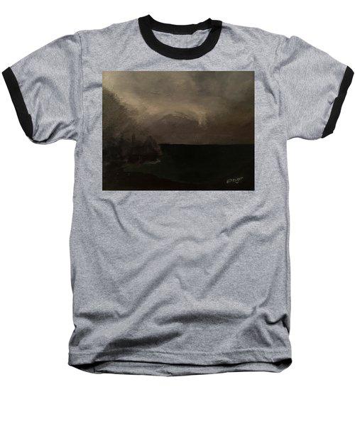 Cold Fog And Sea Baseball T-Shirt
