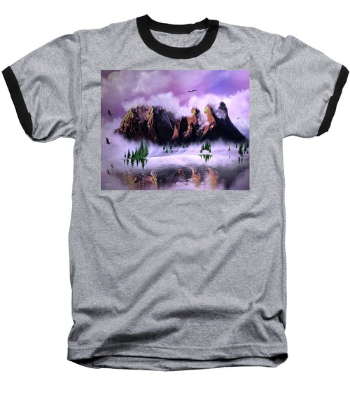 Cold Mountain Morning Baseball T-Shirt