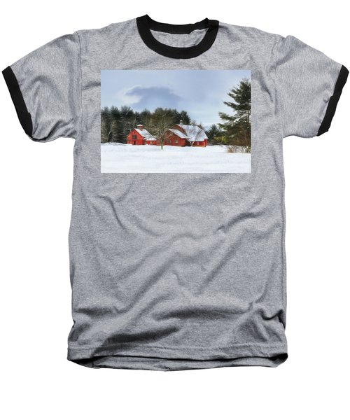 Baseball T-Shirt featuring the digital art Cold Winter Days In Vermont by Sharon Batdorf