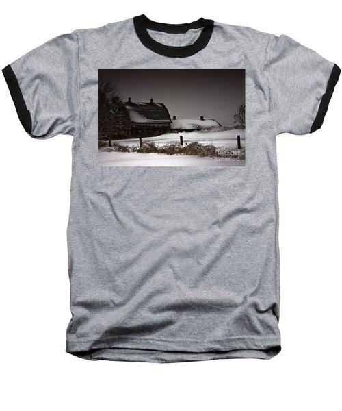 Cold Winter Night Baseball T-Shirt