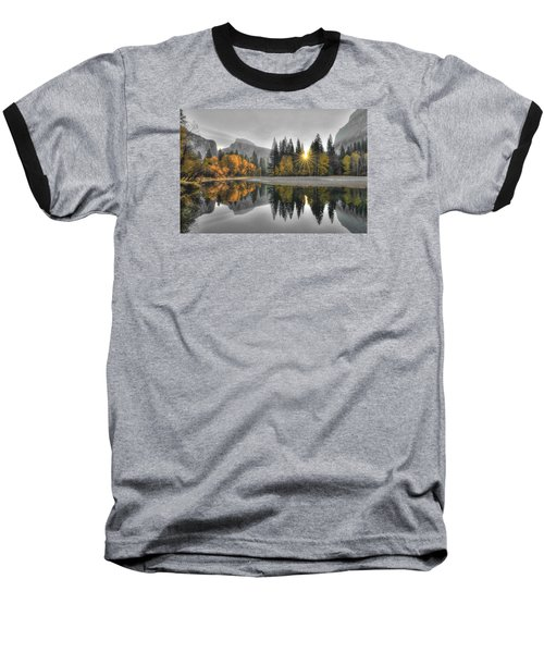 Cold Yosemite Reflections Baseball T-Shirt