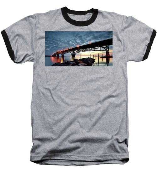 Coleman Bridge Reflections Baseball T-Shirt
