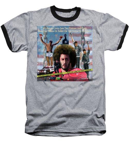 Colin Kaepernick Amongst The Brave Few 2a Baseball T-Shirt