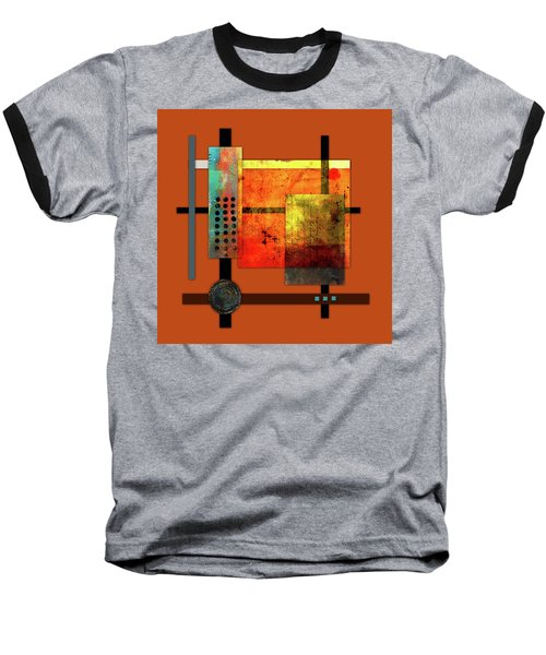 Collage Abstract 7 Baseball T-Shirt by Patricia Lintner
