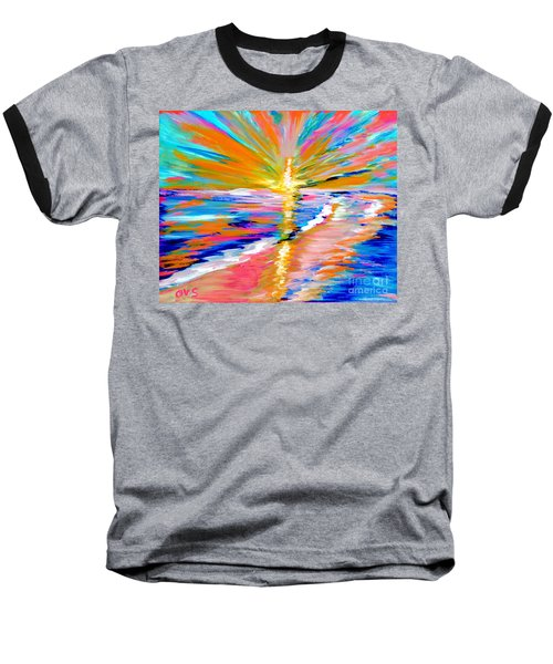 Collection Art For Health And Life. Painting 5. Energy  Of  Life Baseball T-Shirt