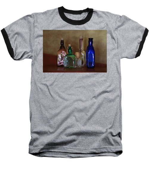 Collection Of Vintage Bottles Photograph Baseball T-Shirt