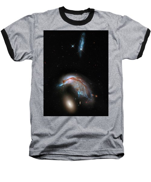 Baseball T-Shirt featuring the photograph Colliding Galaxy by Marco Oliveira