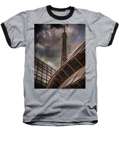 Paris, France - Colliding Grids Baseball T-Shirt