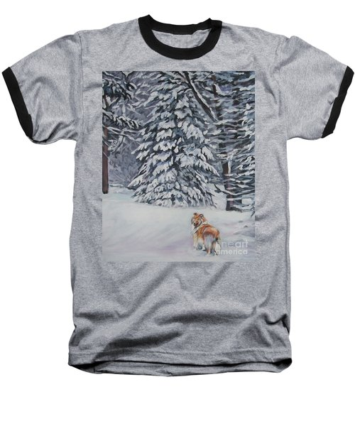 Collie Sable Christmas Tree Baseball T-Shirt