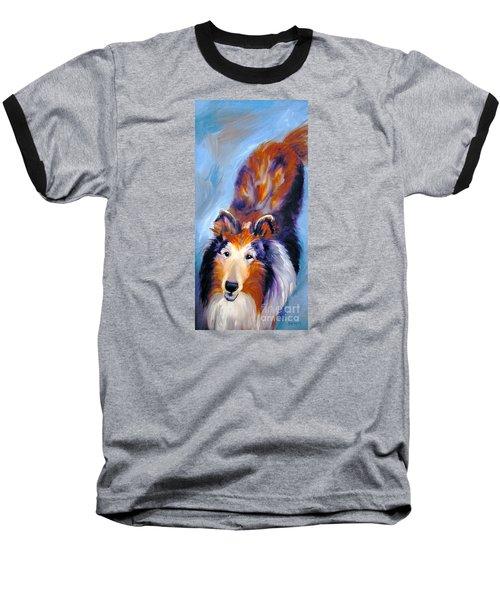 Collie Sable Rough 1 Baseball T-Shirt