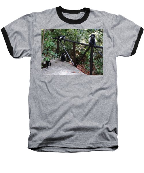 Colobus Monkeys At Sands Chale Island Baseball T-Shirt