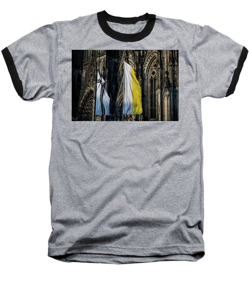 Cologne Cathedral Flags Baseball T-Shirt