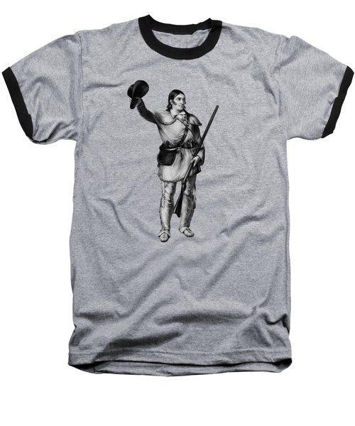 Colonel Davy Crockett Baseball T-Shirt