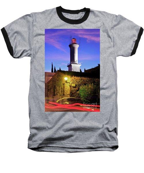 Baseball T-Shirt featuring the photograph Colonia Lighthouse by Bernardo Galmarini