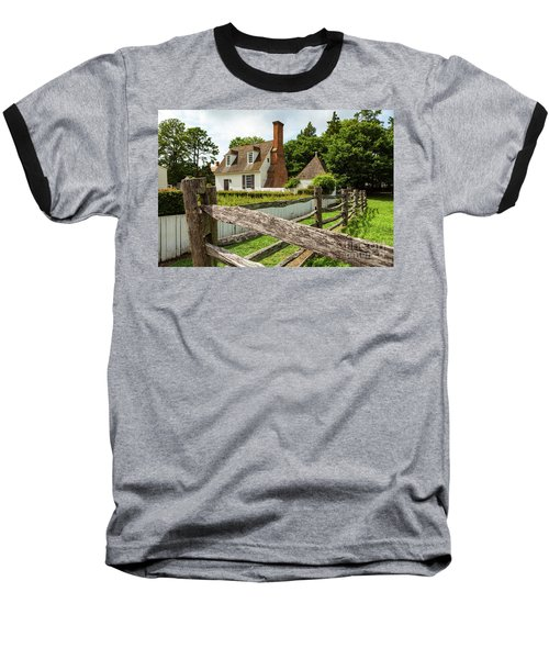 Colonial America House Baseball T-Shirt