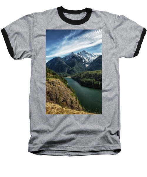 Colonial Peak Towers Over Diablo Lake Baseball T-Shirt