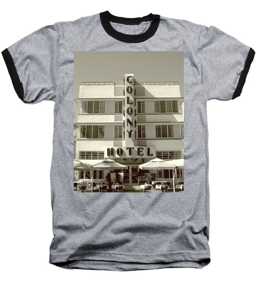 Colony Hotel South Beach Baseball T-Shirt