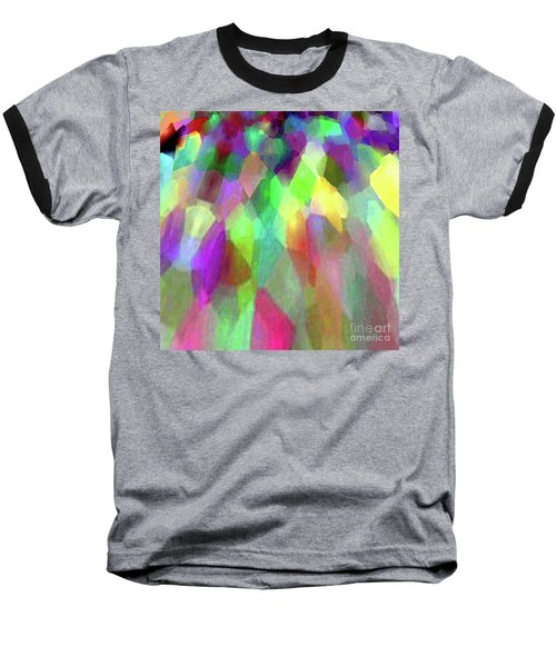 Color Abstract Baseball T-Shirt by Wernher Krutein