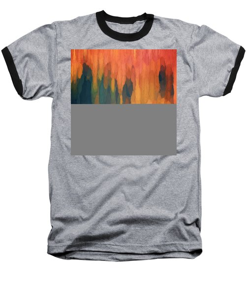 Baseball T-Shirt featuring the digital art Color Abstraction L Sq by David Gordon