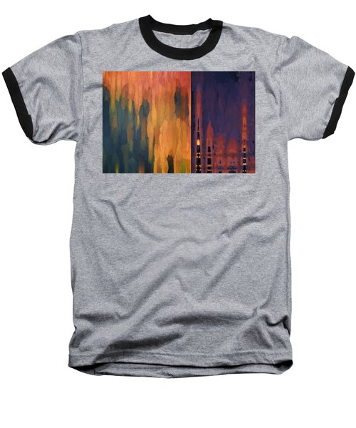Color Abstraction Liv Baseball T-Shirt