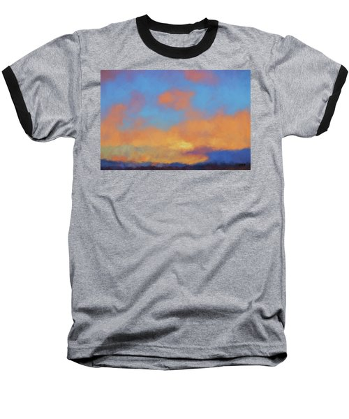 Baseball T-Shirt featuring the digital art Color Abstraction Lvii by David Gordon