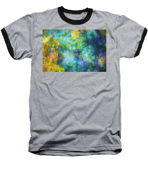 Baseball T-Shirt featuring the digital art Color Abstraction Xliv by David Gordon