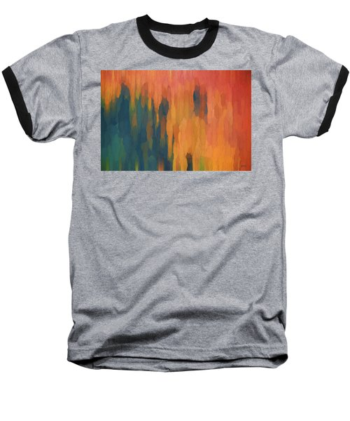 Baseball T-Shirt featuring the digital art Color Abstraction Xlix by David Gordon