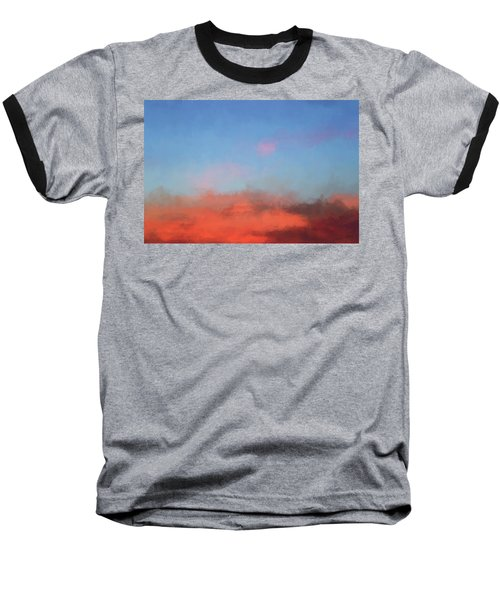 Baseball T-Shirt featuring the photograph Color Abstraction Xlvii - Sunset by David Gordon